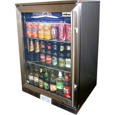 Rhino Fridge Single Glass Door