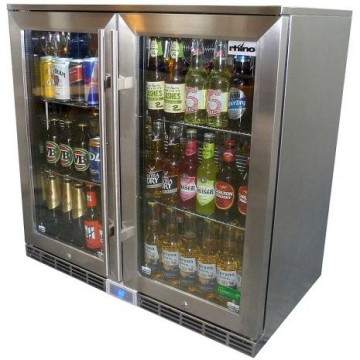 Rhino Fridge Double Glass Door