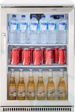 Beefeater Fridge Single Glass Door